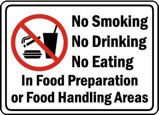 Food Safety Signs, Food Service Signs, Food Handling Signs