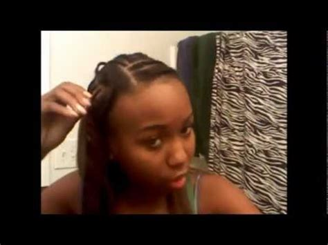 perm on leave out for sewin my sew in with my hair left out youtube
