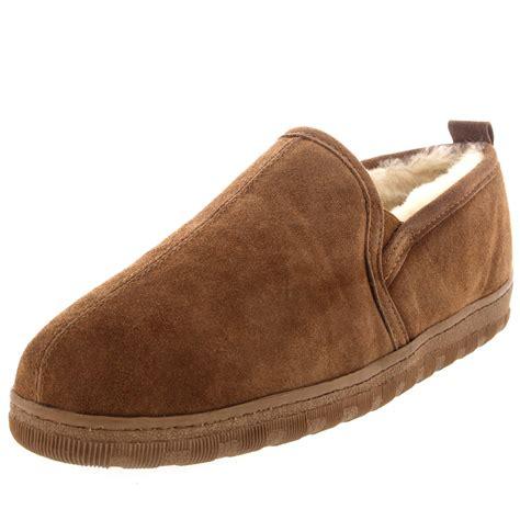 mens loafer slippers mens real suede loafer australian sheepskin warm fur