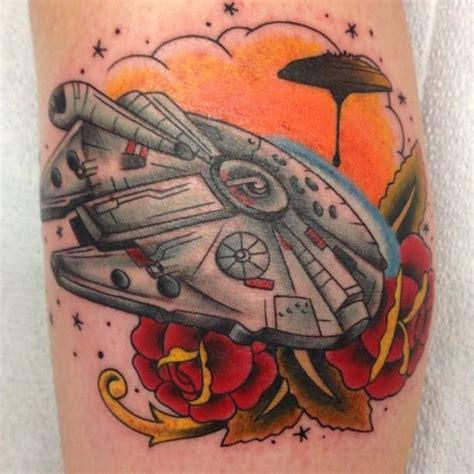 millenium tattoo millenium falcon wars by quot catfish quot sager