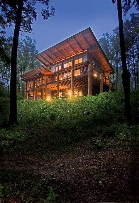 Log Home Modern Design One Creates A Vacation Retreat That Is The