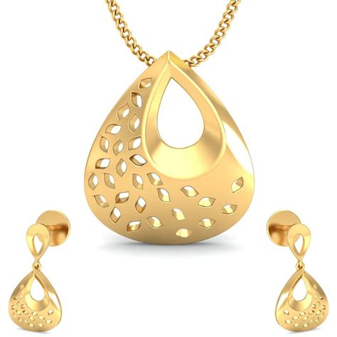 the attractive gold pendant set buy attractive gold