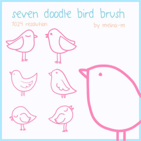 doodle font free commercial use bird doodle brush free commercial use digital freebies