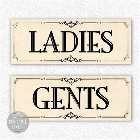bathroom sign printable restroom signs printable quot ladies gents quot diy digital