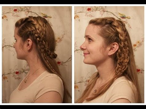 vikings hagatga hairdos vikings lagertha inspired braids youtube