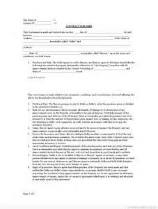 Free Contract For Deed Template by Free Printable Contract For Deed Form Basic Templates
