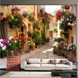 Painting A Wall Mural photo wallpaper continental mediterranean landscape
