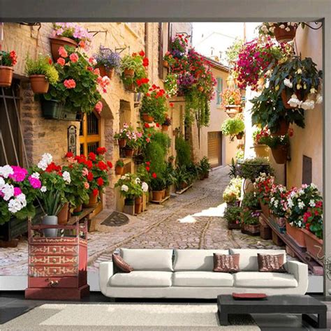 architectural wall murals photo wallpaper continental mediterranean landscape architecture bedroom living room tv wall
