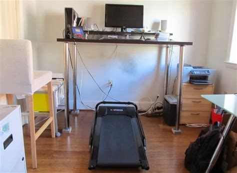 Diy Treadmill Desk Ikea Building A Diy Walking Desk With A 200 Treadmill