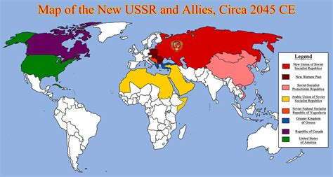 map us allies map of the new ussr and allies circa 2045 ce by