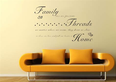 wall stickers quotes family family ties are precious white text quotes wall stickers