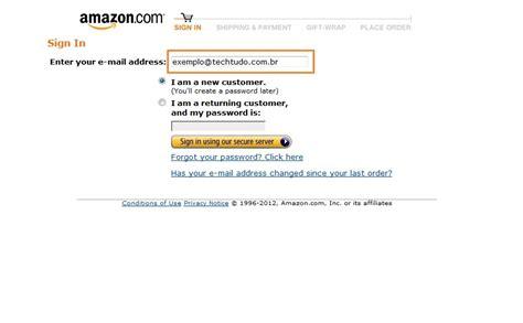 amazon uk login como comprar na amazon dicas e tutoriais techtudo