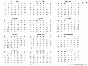 Free Downloadable 2015 Calendar Template by Free 2015 Printable Calendar Template
