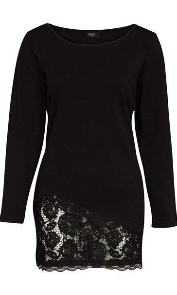 Lace Trim Sleeve Tunic sleeve lace trim jersey tunic