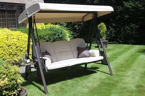 Three seater patio swing chair innovators international ltd