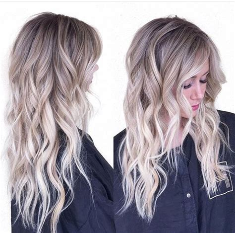 perfect shadow root on blonde hair ash blonde w shadow root blonde ambition pinterest