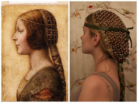 diy renaissance hairstyles collaboween diy hair snood inspired by da vinci s la