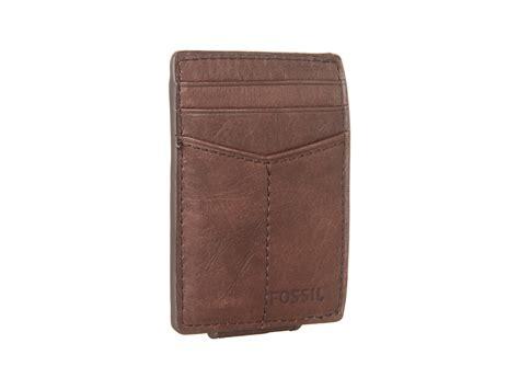 Fossil Card Brown Original 1 fossil ingram magnetic multi card brown zappos free shipping both ways