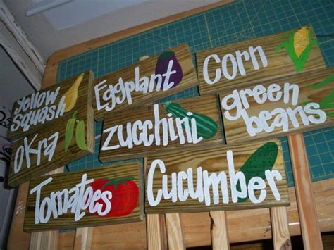 Wooden Vegetable Signs Diy Markers For Our Vegetable Garden Signs For Vegetables