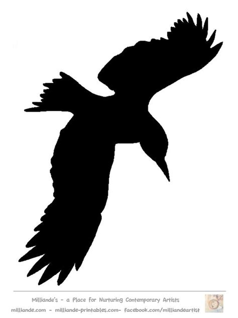silhouette templates bird silhouette stencil template at www milliande