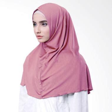 Jilbab Instan Warna Pink Dusty jual jilbab katun model terbaru harga murah blibli