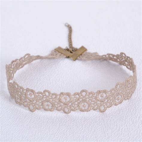 Lace Choker 2016 new lace choker necklace for hollow out flower
