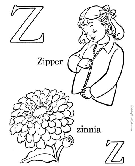 Abc Coloring Page Letter Z 031 Az Coloring Pages Alphabet Coloring Pages A Z Pdf
