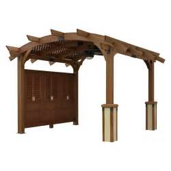 12x12 Pergola by Sonoma 12 X 12 Ft Arched Wood Pergola Pergolas At Hayneedle