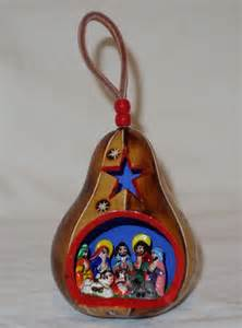 handmade christmas gourd ornament by andeanarts on etsy