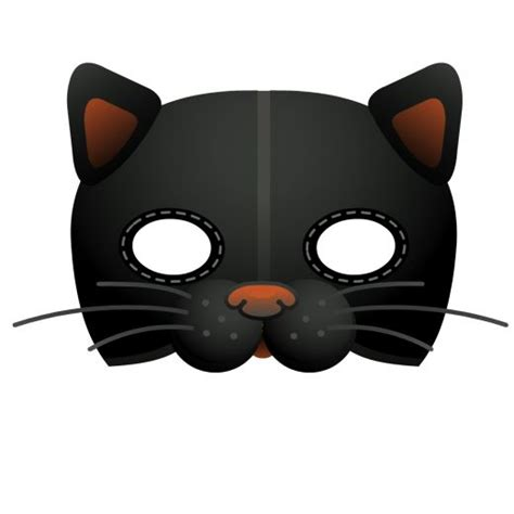 Printable Halloween Cat Masks | nest bliss halloween inspiration