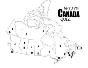 blank map of canada to label provinces and capitals images