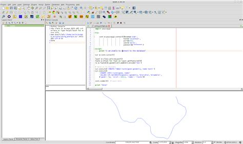 qgis tutorial ported to python empty layer after import into postgis database pyqgis