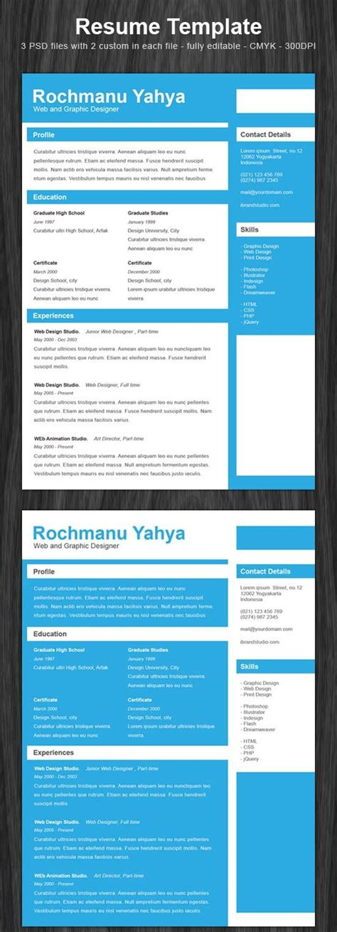 17 Best Images About Resumes On Pinterest Cascade Resume Template Free