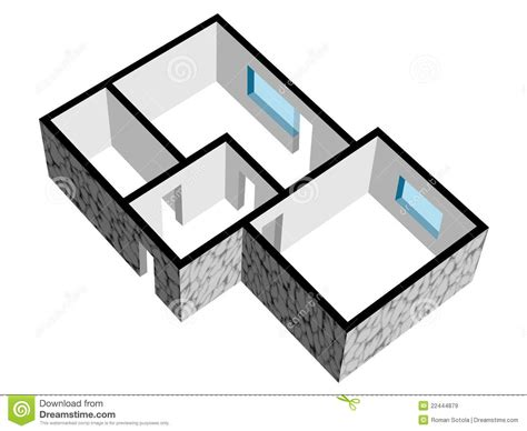 Room Layout Builder 3d house floor plan with stone texture royalty free stock