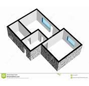 Planta De Assoalho Da Casa 3d Com Textura Pedra Imagens