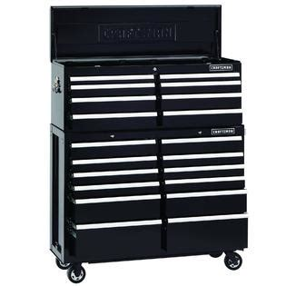 craftsman 8 drawer tool chest combo 52 inch 8 drawer premium black top chest roomy and tough