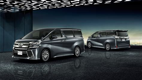 toyota unveils new alphard and vellfire minivans in japan