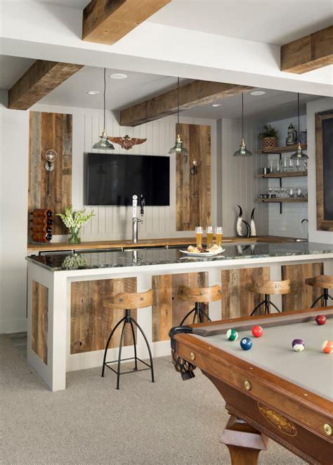 ravishing farmhouse home bar interiors