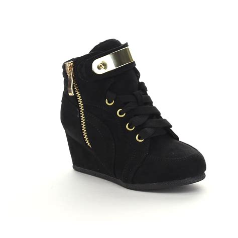 comfortable wedge sneakers new children girls comfort lace up hidden wedge sneakers