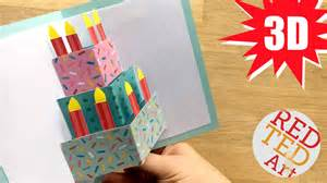 easy pop up birthday card diy red ted art s blog