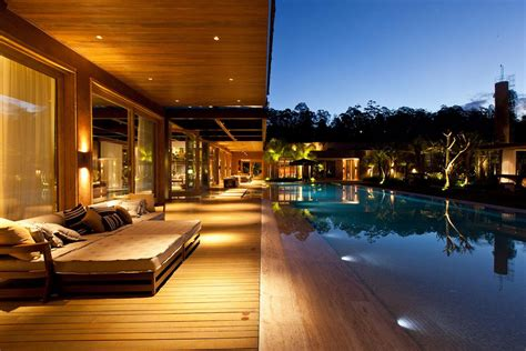 veranda lights warm and inviting home in lima brazil