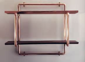 pipe and wood shelving copper pipe reclaimed wood shelving with coat hooks