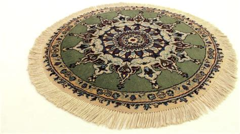 tapijt 90 cm breed mooi rond perzisch tapijt nain kork wol met zijde 90cm