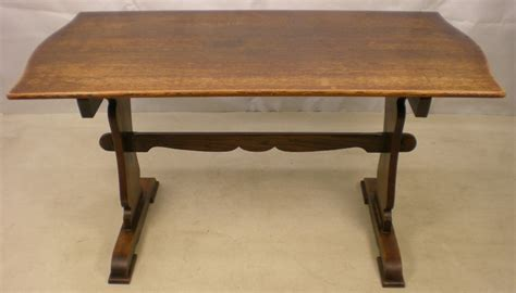 antique style oak refectory dining table