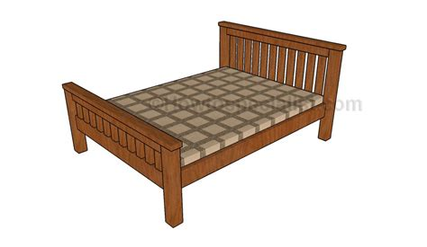 diy full bed frame full size bed frame plans howtospecialist how to build