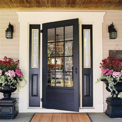 Stylish Front Door Black Farmhouse Style Front Door As A House