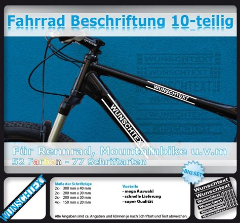Fahrrad Aufkleber Scott by Fahrrad Aufkleber Dein Wunschtext F 252 R Scott Rahmen Ebay