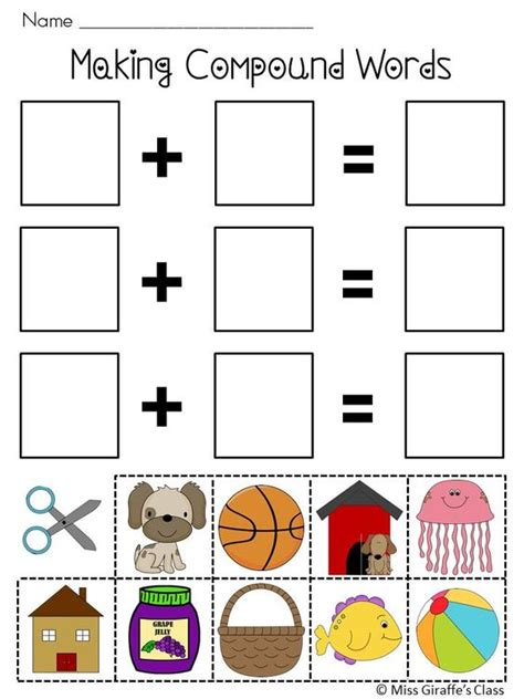 printable compound word matching games compound words worksheets and activities mega pack fine