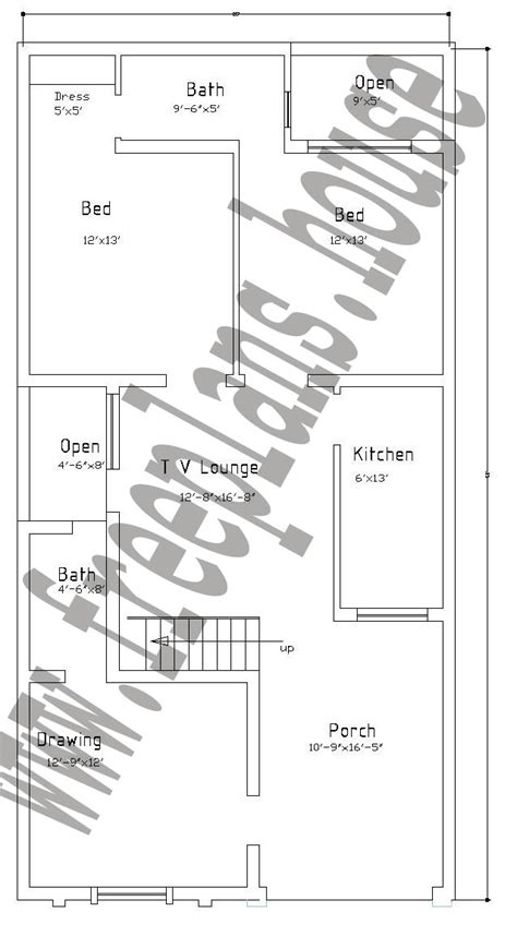House Map Design 20 X 50 by 25 215 50 Feet 116 Square Meters House Plan