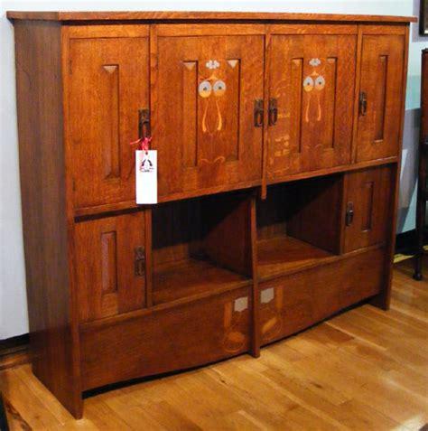 Arts And Crafts Cabinet Doors Arts And Crafts Oak 6 Door Cabinet